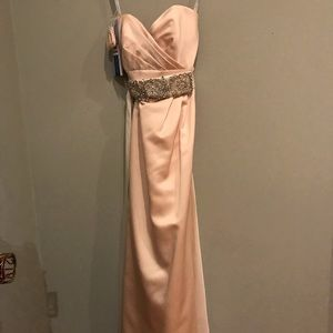 Champagne Sweetheart Gown, With Sash